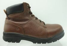 Wolverine Brown Leather Lace Up Steel Toe Ankle Work Boots Shoes Men's 10 M