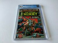SUPERNATURAL THRILLERS 8 CGC 9.2 WHITE PAGES LIVING MUMMY MARVEL COMICS 1974