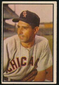 #137 SAM DENTE 1953 Bowman Baseball Color HIGH NUMBER CHICAGO WHITE SOX