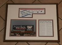 TOLEDO OHIO 150TH birthday ANNIVERSARY framed Picture billboard photo 1987 vtg