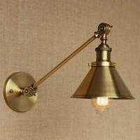 Antique Gold Long Swing Arm Wall Lamp Illumination Sconce Light Lighting Fixtur