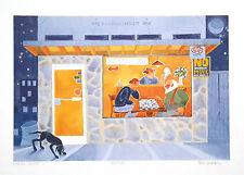 "Alaskan Artist Rie Munoz ""Chess Game""  Limited Edition Print"