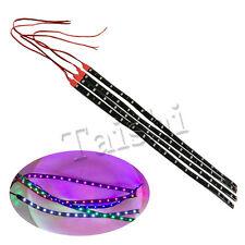 4X 15 LED Rot Streifen Strip Strips Leiste 30cm Auto Deko Innenraumbeleuchtung