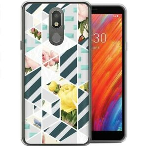 Thin Gel Phone Case for LG Stylo 4,5,X320,210 Series,Elegant Flower Print