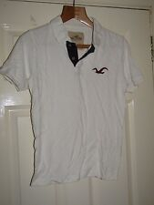 HOLLISTER WHITE POLO SHIRT - Size Small