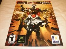 "Scarce 2003 X BOX LUCAS ARTS ""ARMED AND DANGEROUS"" Poster // GREAT"