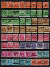 United States Precancels on 1938 Presidents to 25¢ (1), 102 diff, F/VF