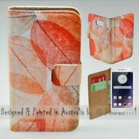 For OPPO Series - Autumn Leaves Theme Print Wallet Mobile Phone Case Cover