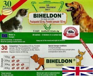 BIHELDON DEWORMER 500 tabl. Dogs & Cats Puppy Wormer - Broad Spectrum Deworming
