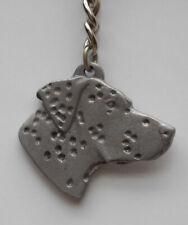 Dalmatian Dog Pewter Key Chain, Rawcliffe Company