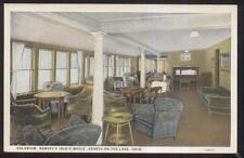 Postcard GENEVA Ohio/OH  Idle-A-While Tourist Solarium Room view 1920's
