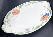 """Villeroy & Boch AMAPOLA Large Serving Tray Bright Color Poppies 15"""""""