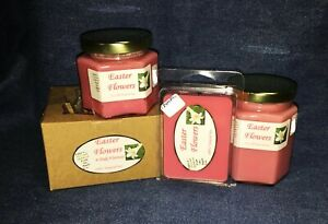 **NEW** Hand Poured Floral Scented Soy Candles Tarts & Votives - Easter Flowers