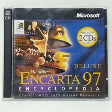 Microsoft Encarta 97 Encyclopedia Deluxe Edition (2 CD Rom Discs)  pc