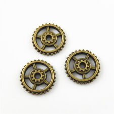 50pcs/pack Antique Bronze Dia 18mm Gear Wheel Alloy Pendants Charms Ctafts 52652