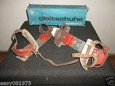 Alte;Gleitschuhe;Winterpass;Winter;Spass;Germania;DDR;OVP; GUT Retro Ostalgie