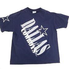 Vintage 1993 sz X Large Dallas Cowboys 100% Cotton Single Stitch T Shirt Blue