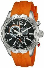 NAUTICA MEN'S QUARTZ NST 30 CHRONOGRAPH SPORT WATCH, NAD15510G NEW. 330 FT.