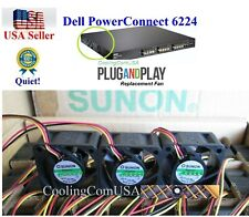 Pack of 3x new Quiet Fans for Dell PowerConnect 6224 Fan Kit, (TK308, RN856)