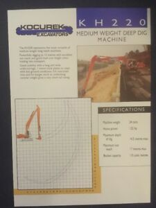 Kocurek KH220 Excavator Leaflet