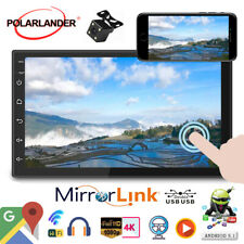 7''2 Din GPS Android Car Radio Airplay+Camera Wifi FM iOS Mirror Link BT Touch
