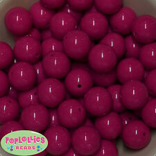 20mm Hot Pink Acrylic Solid Bubblegum Beads Lot 20 pc.Gumball Chunky