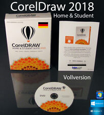 Corel Draw Home & Student Suite 2018 Vollversion Box + DVD, Lernvideos OVP NEU