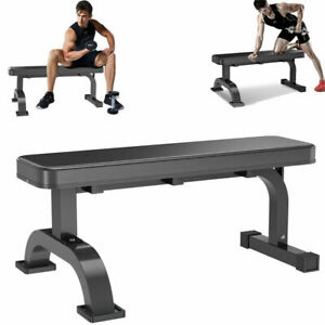 Flat Weight Bench Heavy Duty Extra Stable Workout Home Press Abs Gym Workout UK