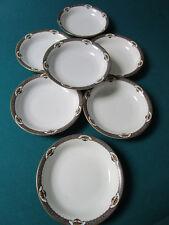 "Rosenthal Germany 1930s Bavaria China Floral Urn Rim 7 Soup Plates 8"""