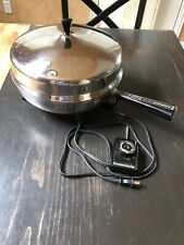Vintage FarberWare Electric Skillet Fry Pan Model 310B-312B Dome Lid-Works Great