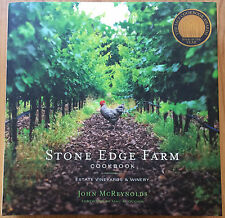 Stone Edge Farm Cookbook Estate Vineyards Sonoma Valley Winery Recipes Huge Book
