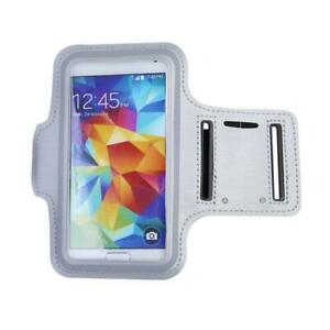 Universal Sports Running Arm Band Cell Phone Case Holster-Silver-Free Shipping!