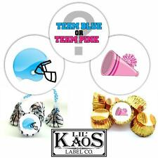 108 Gender Reveal Stickers Labels Party Baby Kisses Candy Party Favor Football