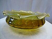 Antique Art Nouveau Czech Loetz Glass Bowl Bohemian Decorative Glass Collectible