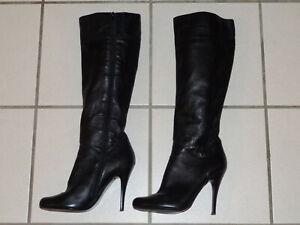 Aldo Damen Stiefel High Heels Stiletto Boots Heel Absatz schwarz getragen Gr. 40