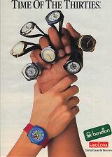 PUBLICITE ADVERTISING  1983    BENETTON & BULOVA  collection montres