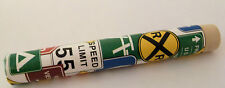 STREET SIGNS Storage Tubes for Toothpicks, Needles, Small Pills (Railroad, Camp)