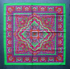 Paisley estilo Pañuelo Cabeza Bufanda Pañuelo Verde púrpura y naranja Bufanda De Cuello