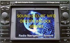 VW AUDI SEAT SKODA MFD NAVIGATION RADIO DECODE UNLOCK