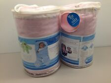 2 TeddyToes Teddy Toes Classic Swaddle Blanket with Feet PINK for Carseat
