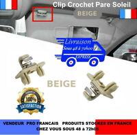 Clip crochet pare soleil Audi A1 A3 A4  A5  Q3 Q5 TT 8U0857562A BEIGE  Ref: Z012