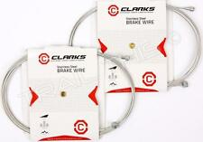 2-Pack Clarks Universal Stainless Steel Bike Brake Cables 2000 x 1.5mm Road/MTB