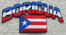 PUERTO RICO BORICUA FLAG PATCH Cloth Badge Biker Jacket United States of America
