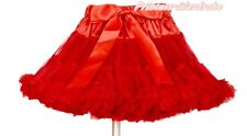 XMAS Christmas Hot Red FULL Tutu Skirt Dance Party Dress Girl Adult Women Lady