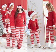 Christmas Striped Family PJs Matching Pajamas Set Xmas Sleepwear Nightwear 00039