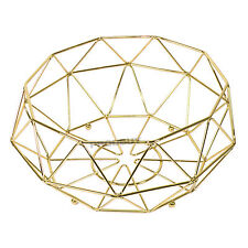 31cm Gold Wire Fruit Bowl Bread Basket Storage Dish Dining Coffee Table Decor