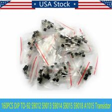 160pcs NPN Transistor 16 values 2N2222 C1815 S9013 S9018 2N3906 TO-92 US SHIPPIN