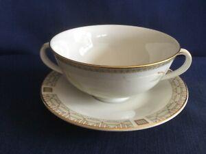 Royal Doulton White Nile soup cup & saucer