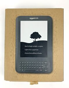 "Amazon Kindle Keyboard 3rd Gen Wi-Fi Special Offers 6"" Display New Box Open 2011"
