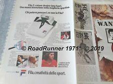 Björn BJORN BORG_FILA Sportswear_pubblicità originale del 1976_advertising